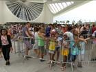Museu do Amanhã tem longas filas neste sábado nublado no Rio