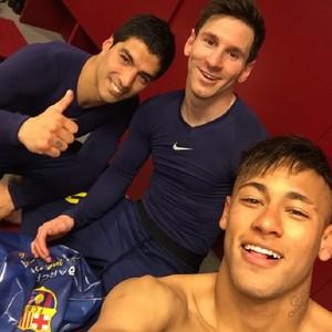 Neymar, Suárez e Messi Barcelona x Real Madrid (Foto: Reprodução / Instagram)