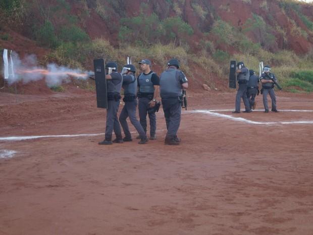 Treinamento da PM é realizado desde segunda-feira (15) em Descalvado (Foto: Divulgação/Polícia Militar)