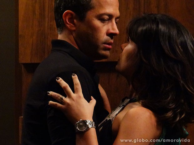 Os dois ficam muito próximos (Foto: Ellen Soares/TV Globo)