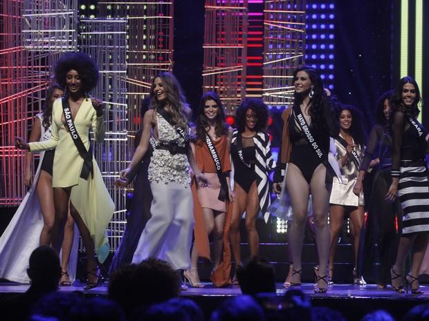 Candidatas no Miss Brasil em São Paulo (Foto: Celso Tavares/ EGO)