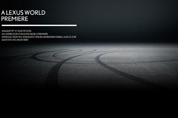 Lexus divulga teaser de veículo que será lançado no Salão de Detroit (Foto: Divulgação)