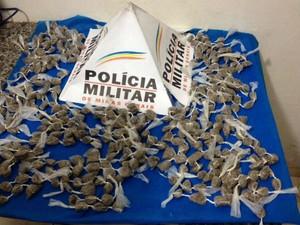 Buchas de maconha foram encontradas durante operação (Foto: Polícia Militar/Divulgação)