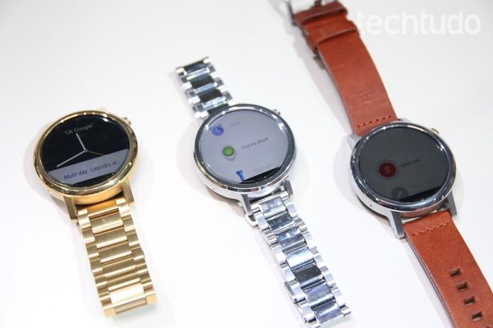 Novos smartwatches da Motorola (Foto: Fabrício Vitorino/TechTudo)