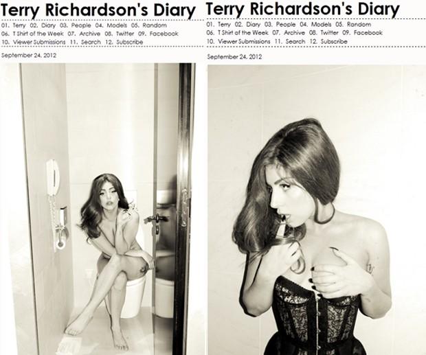 Cantora Lady Gaga em momentos íntimos em fotos tiradas por Terry Richardson (Foto: Reprodução/Terrysdiary.com)