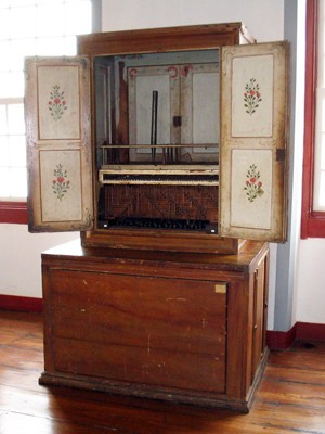 Órgão de tubos Museu Regional São João del Rei (Foto: Museu Regional de SJDR/Acervo)