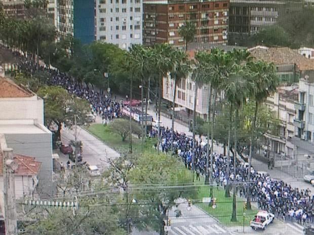 Marcha segurança RS (Foto: Brigada Militar/Divulgação)