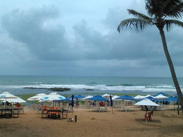 Praia de Stella Maris, em Salvador. Bahia (Foto: Arquivo Pessoal)