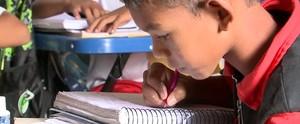 Estudantes sofrem com situação precária de escolas de Bom Jardim (Reprodução/Globo)