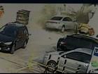 Motorista causa destruição em posto de combustíveis de Jundiaí