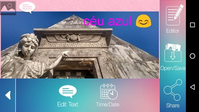 Escrever em Fotos, app grátis para Android (Foto: Reprodução/Raquel Freire)
