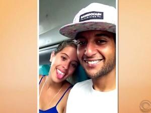 Edevaldo e a mulher foram atropelados; ele morreu (Foto: Reprodução/RBS TV)