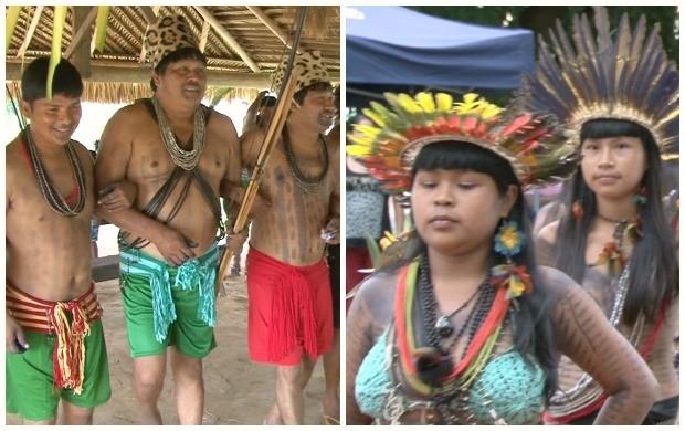 Índios foram destaque na edição do telejornal (Foto: Rondônia TV)