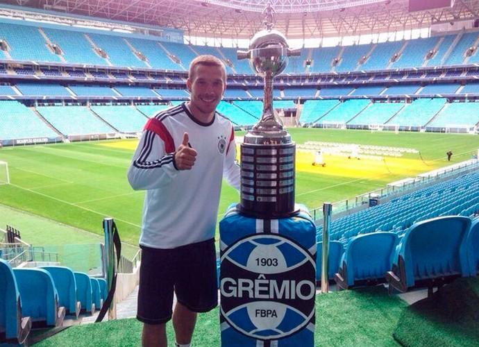 Podolski Arena do Grêmio Porto Alegre (Foto: Reprodução/Twitter)