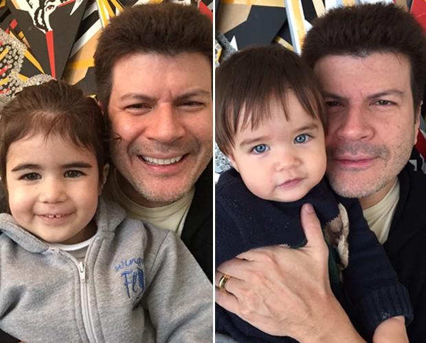 Paulo Ricardo com os filhos (Foto: Arquivo Pessoal)