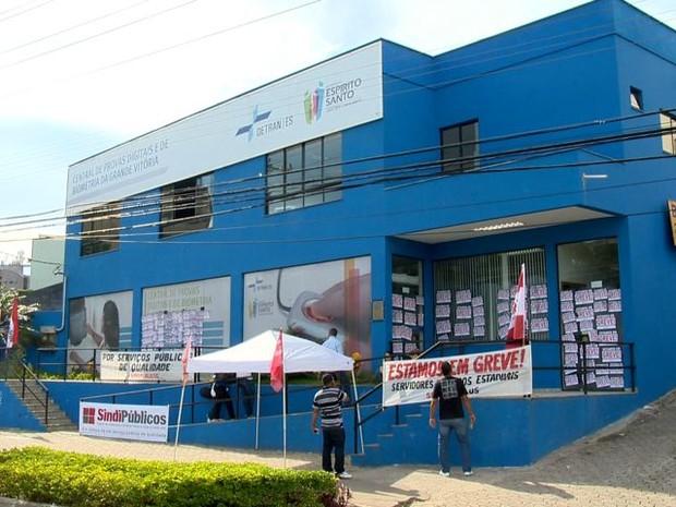 Greve dos servidores do Espírito Santo (Foto: Reprodução/ TV Gazeta)