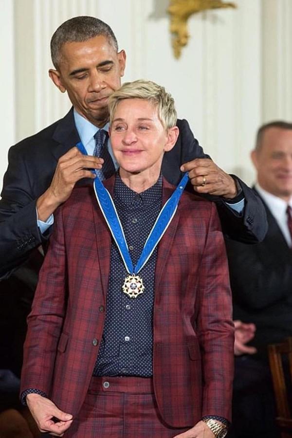 Barack Obama e Ellen DeGeneres (Foto: Instagram/Reprodução)