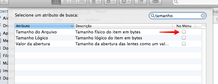 Configurando busca por tamanho de arquivo (Foto: Reprodução/Helito Bijora)
