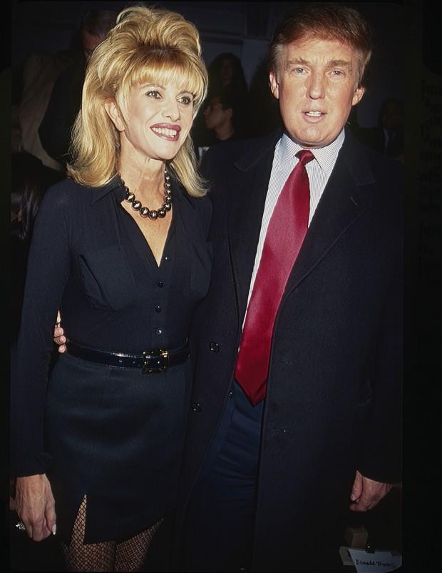 Donald Trump com Ivana em 1997 em Nova York (Foto: Getty Images)