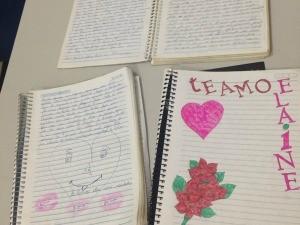 Após cartas, declarações eram feitas em cadernos (Foto: Claudineis Galinari/ Arquivo Pessoal)