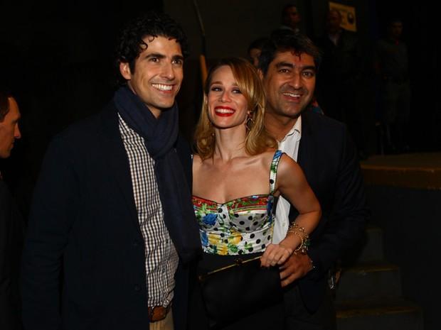 Reynaldo Gianecchini, Mariana Ximenes e Zec Camargo em evento em São Paulo (Foto: Iwi Onodera/ EGO)