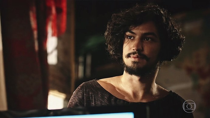 Miguel tenta descobrir a verdade por trás de Santo (Foto: TV Globo)