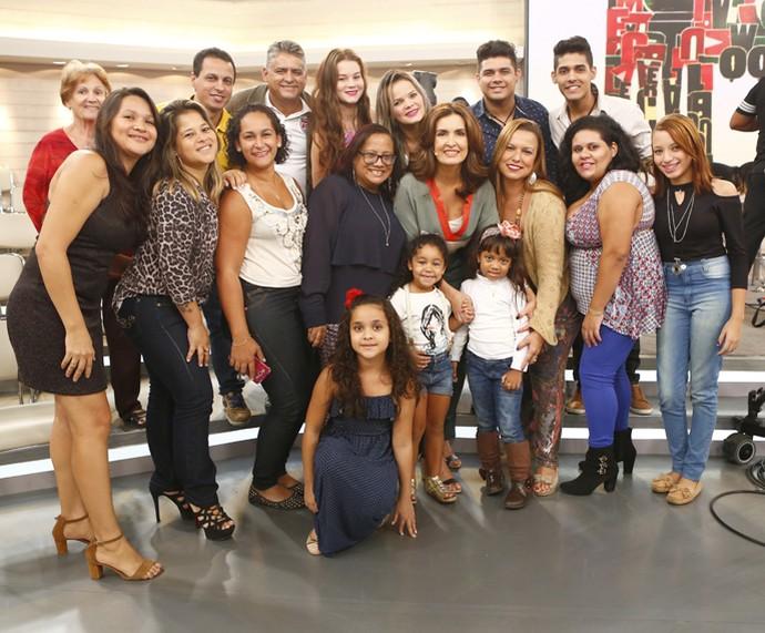 Plateia dp Encontro com a apresentadora (Foto: Fábio Rocha/Gshow)