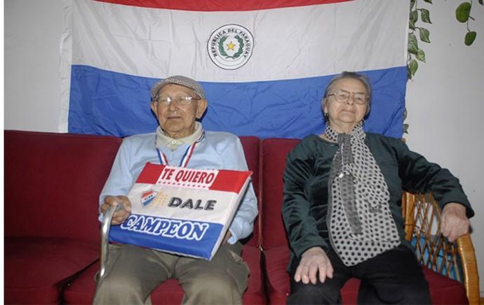 torcedor nacional paraguai (Foto: Nestor Soto/Conmebol)
