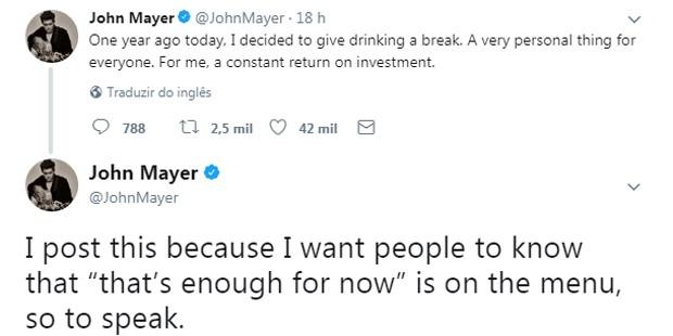 John Mayer (Foto: Reprodução/Twitter)