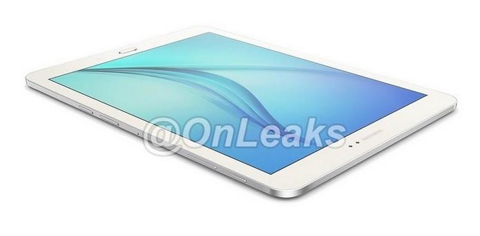Suposta frente do Galaxy Tab S2, novo tablet da Samsung (Foto: Reprodução/OnLeaks/Twitter)