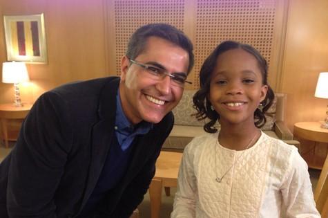 Hélter Duarte e Quvenzhané Wallis (Foto: Divulgação/TV Globo)
