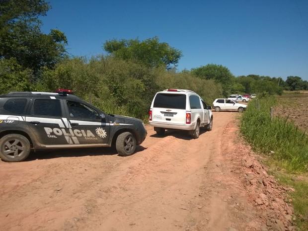 Localização ocorreu próximo a lavouras de arroz, em Candelária (Foto: Divulgação/Polícia Civil)