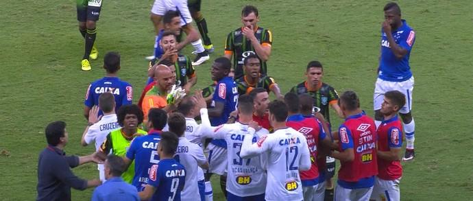 Cruzeiro; América-MG (Foto: Reprodução/Premiere)