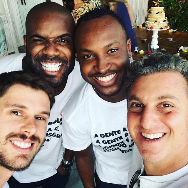 Bruninho, Rafael Zulu, Thiaguinho e Luciano Huck (Foto: Reprodução/Instagram)
