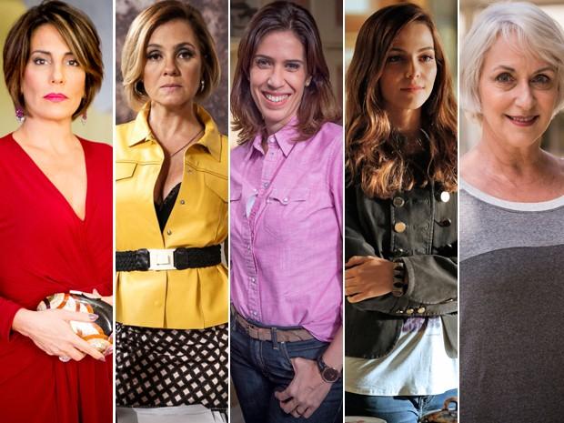 Beatriz, Inês, Karen, Cris e Olga continuam na lista de suspeitas (Foto: TV Globo)