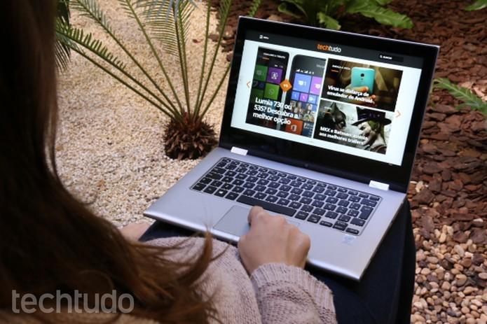 Dell conta com linha mais variada, com máquinas gamer e 2 em 1 (Foto: Raíssa Delphim/TechTudo)