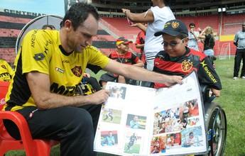 Ação solidária do Sport realiza sonho de crianças atendidas na AACD