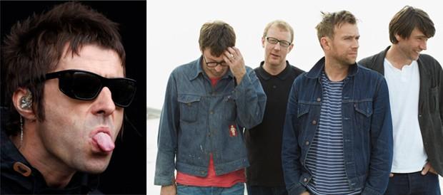 Liam Gallagher afirmou que single do Blur é 'canção do ano' (Foto: Olivia Harris/Reuters/Linda Brownlee/EMI)