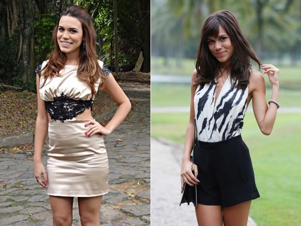 Com o cabelo mais escuro e franjinha, Carla aparece diferente de seu último papel (Foto: Malhação/Carol Caminha/Gshow)