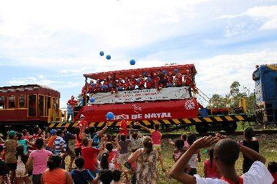 Trem de Natal já é tradicional no Sul catarinense (Foto: Ferrovia Tereza Cristina/Divulgação)