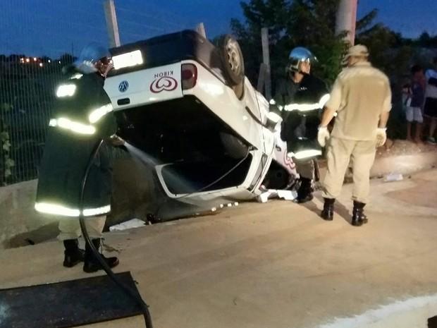 Acidente na Rodovia Mário Andreazza, na cidade de Várzea Grande (Foto: Divulgação/Corpo de Bombeiros de MT)