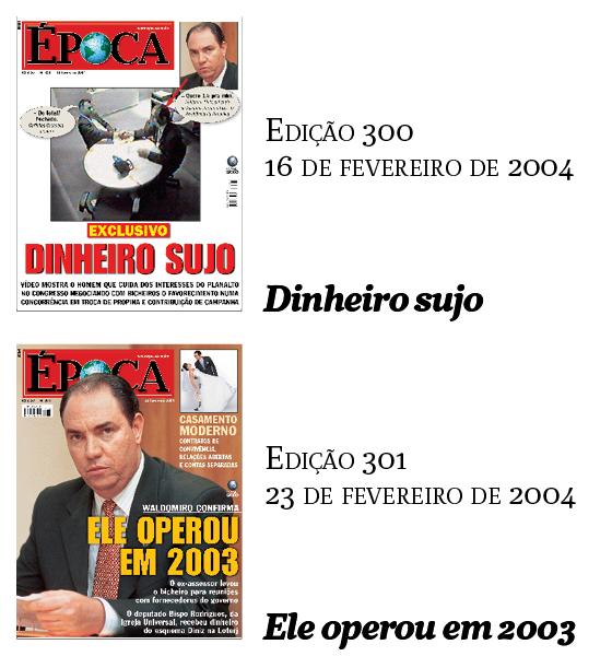 Capas Época - Waldomiro (Foto: Época )
