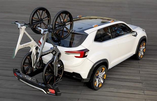 Subaru VIZIV Future Concept com suporte para bicicletas (Foto: Divulgação)