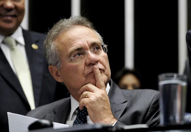O presidente do Senado Federal, senador Renan Calheiros (PMDB-AL), durante julgamento do impeachment (Foto: Edilson Rodrigues/Agência Senado)