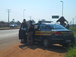 Polícia Rodoviária Federal do Acre (Foto: Janine Brasil/G1)