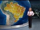 Previsão é de calor na maioria das regiões do Brasil