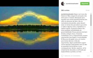 Malvino Salvador em post no Instagram (Foto: Reprodução)