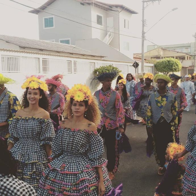 O arraiá conta um enredo, tipo escola de samba, sabe? (Foto: Wing Costa / Redação Integrada)