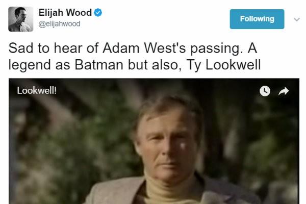 Elijah Wood presta homenagens ao ator que morreu na noite desta sexta-feira (Foto: Reprodução)