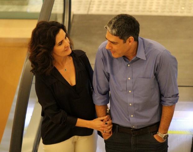 Fátima Bernardes e William Bonner (Foto: Johnson Parraguez/Photo Rio News)